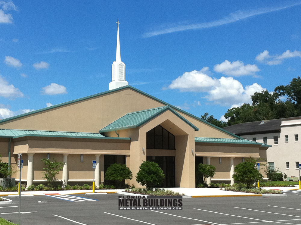 Construction Of Steel Buildings: Pine Castle Metal Church Building In Orlando, FL