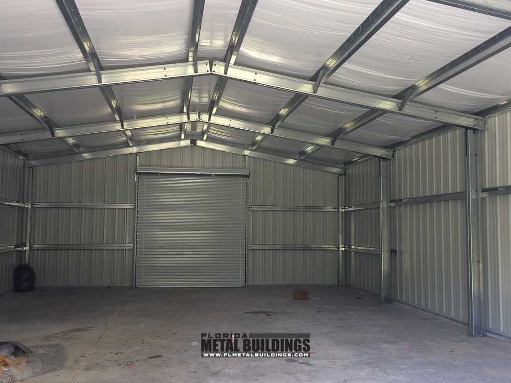 Metal Building For Tractor Storage At Bg Farms In Ocala