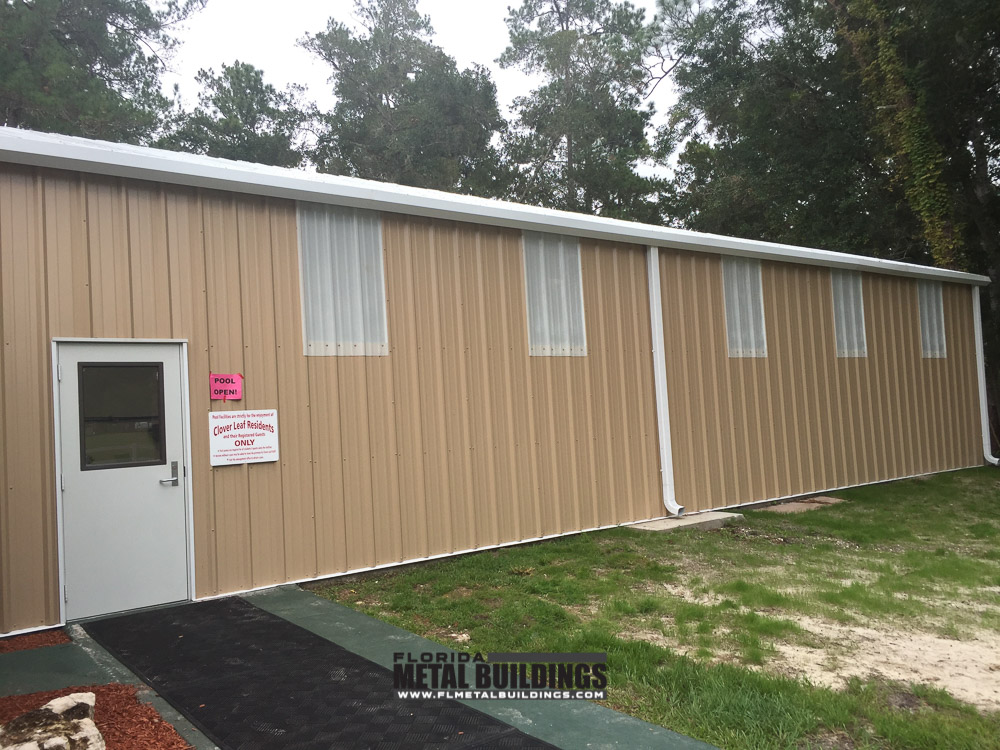 Metal Buildings For Clover Leaf Farms In Brooksville Fl
