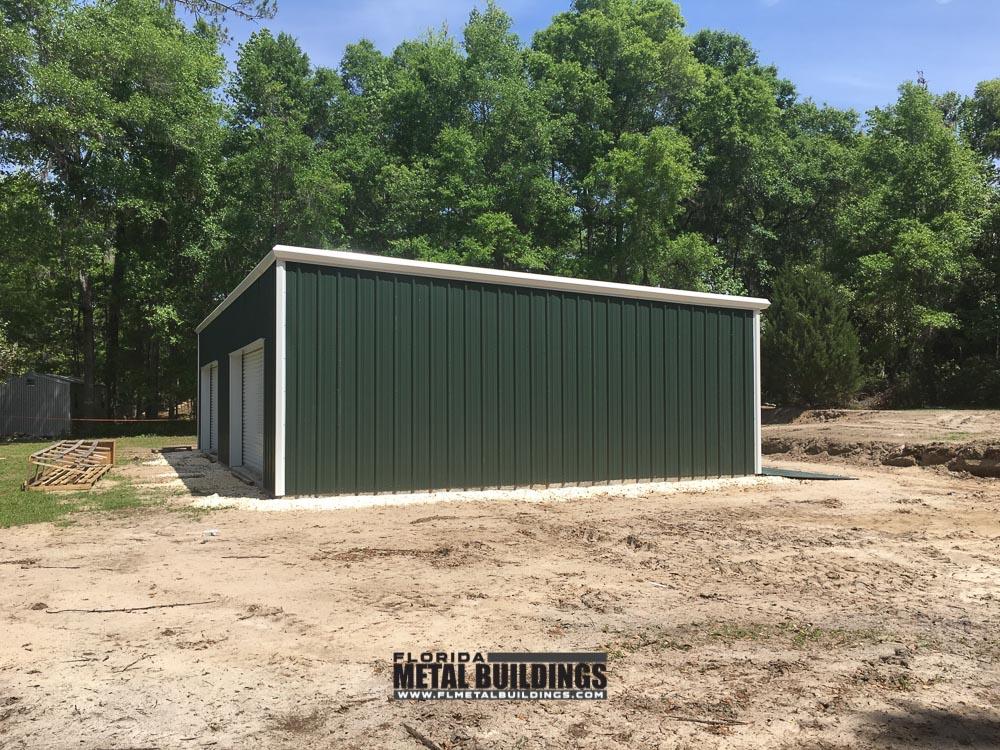 Metal garage building deweese florida metal building for Garage building contractors