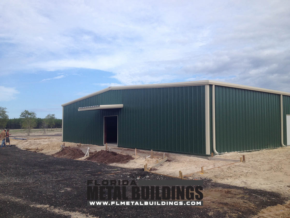 Fwc shooting range metal building in pensacola fl for Building a house in florida